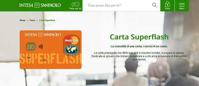 Carta Superflash Intesa Sanpaolo Carta Cento Per Cento